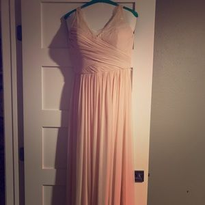 Formal blush floor length dress